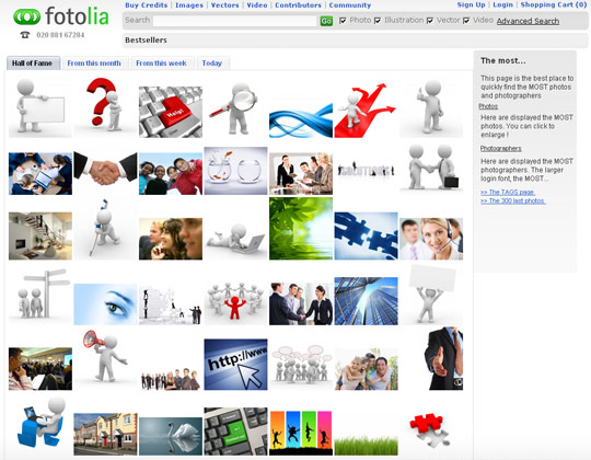 Best Fotolia sellers