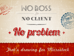 No boss, no client, no problem - that's drawing for microstock