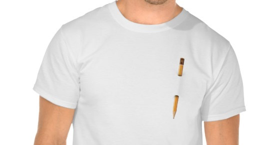 T-shirt with standard pencil for graphic artists