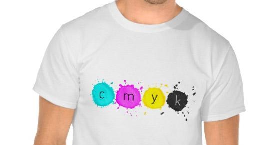 CMYK t-shirt for (offline) print designers