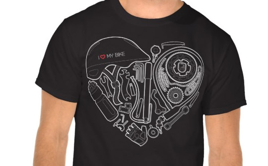I love my bike t-shirt (heart)