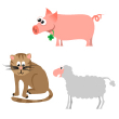 iStockphoto accepted - cat, pig and sheep