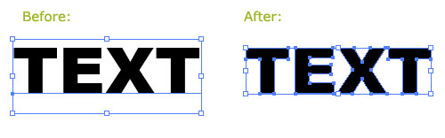 Prepare vector illustration for microstock sale - Convert fonts to paths
