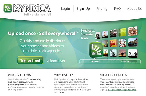 iSyndica - homepage